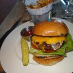 Double Cheddar Burger at White Dog Cafe