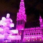 Christmas light show at The Grand Place
