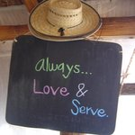 "Casa BlatHa entry ""Love and Serve"" says it all"