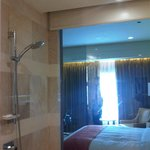 Shower and a view of the room