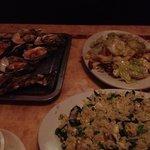 カラオケで夕食