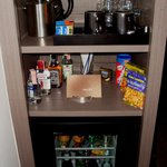 Mini bar with coffee and tea