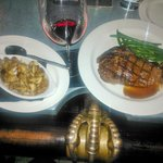 Buffalo Ribeye with mushrooms on Eagle Claw Bar