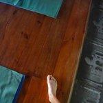 natura cabana yoga floor