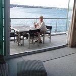 Enjoying the verandah