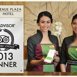Avenue Plaza Hotel won the Travellers' Choice Award for Top Hotel Service in the Philippines