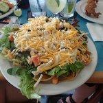 Chicken nacho salad - HUGE!!  Share!!!