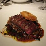 Flat iron steak - perfectly blue