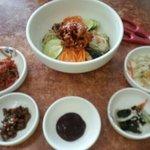 mixed rice with kimchi
