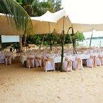 reception on calypso beach