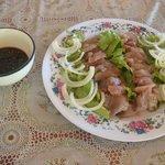 Freshly caught tuna sashimi