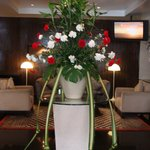 Beautiful flower decoration in the lobby