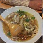 pates en bouillon avec du canard