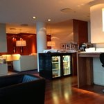 the executive lounge at the Hilton Nordica