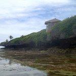 Spa atop the rocky shore