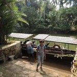 Anoushka ready for boatride at backwater retreat