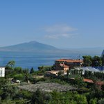 View from room balcony of Mount Vesuvius