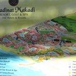 Map of lower Makadi resort area