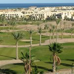 Par 3 Golf course and view towards Makadi Bay and complex