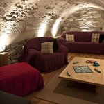 The Den, with Wii, DVD player and squidgy sofas