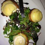 The goat cheese with Salad
