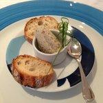 Amusee bouche of smoked fish pâté