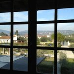 Beautiful view out our window of the grounds and the Tuscan hills.