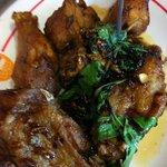 Ka prow chicken wings.