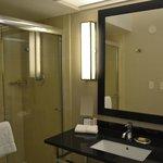 Bathroom with a spacious shower
