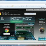 1 of 2 internet pics - the fast one is from my Verizon card, the slow from hotel internet.