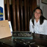 Gaby @ front desk