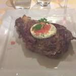 Angus steak with rosemary butter