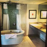 big spacious bathroom! LOVED the tub