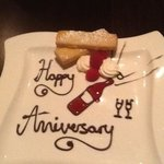 Anniversary Plate from the Chef