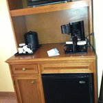 microwave, fridge included in room