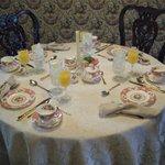 Setting for breakfast