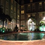 Courtyard heated outdoor pool