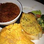 chilli bowl garlic bread and nachos strange together