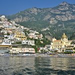 Positano from onboard chartered boat