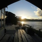 Sunset over Hokianga Harbour, viewed from back of Tavern