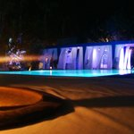 Nice ambience around the swimming pool at night...