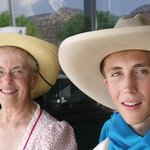 Cowboy & his grandma at The Western Legends Celebration