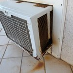 rusty air conditioner unit