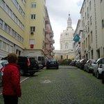Basilica Estrella at the end of the street
