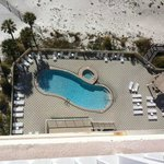 One of the 3 pools, view from our balcony 1302E