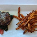 Hand Cut Filet with Sweet Potato Fries