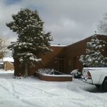 Snow on the adobe casita 12-31-12