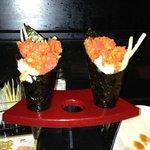 spicy tuna hand rolls- the best!!