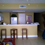 Kitchen area from the living room