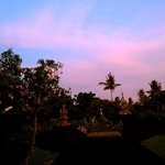 sunset from bayu guesthouse's breakfast veranda